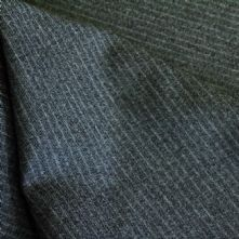 Grey Pin Stripe Wool Flannel Fabric 150cm Wide